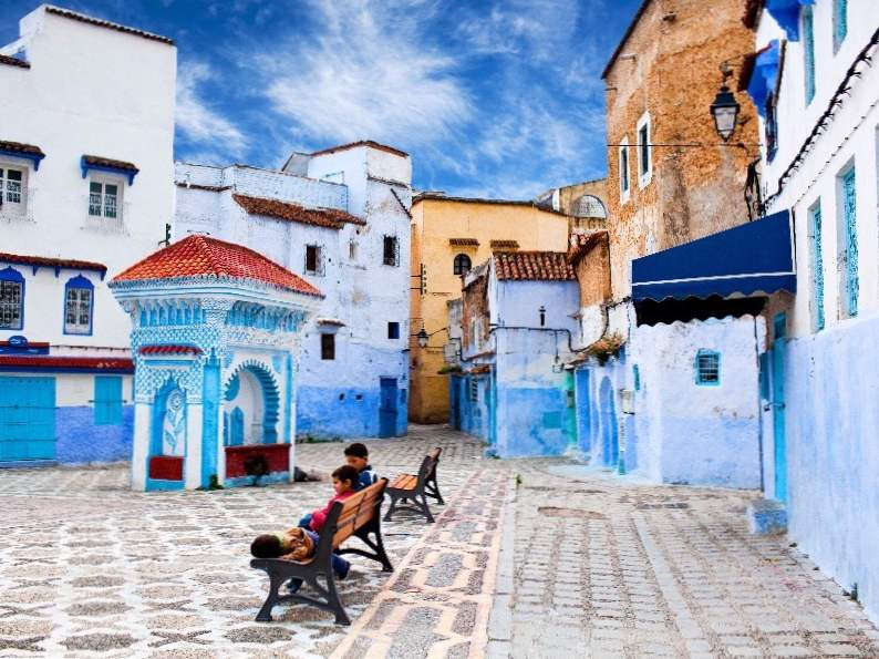 discover the beauty of moroccos blue city