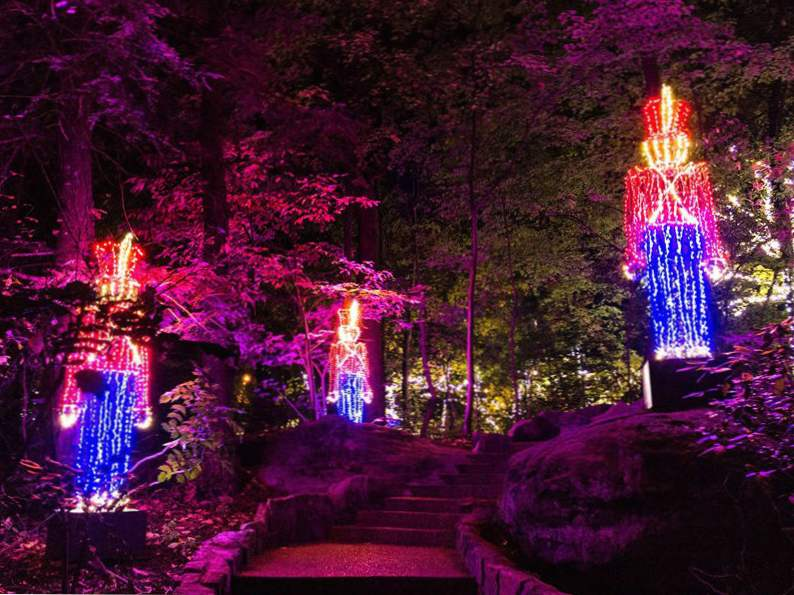 experience the enchanted garden of lights in rock city georgia