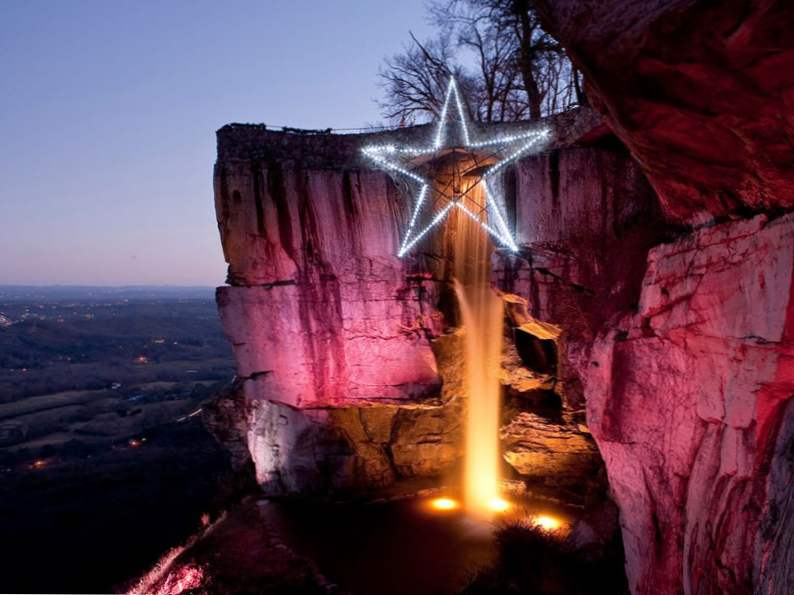 experience the enchanted garden of lights in rock city georgia 6