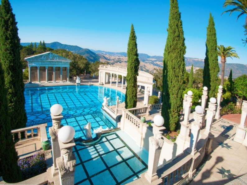hearst castle is an essential stop along the pacific coast highway 3