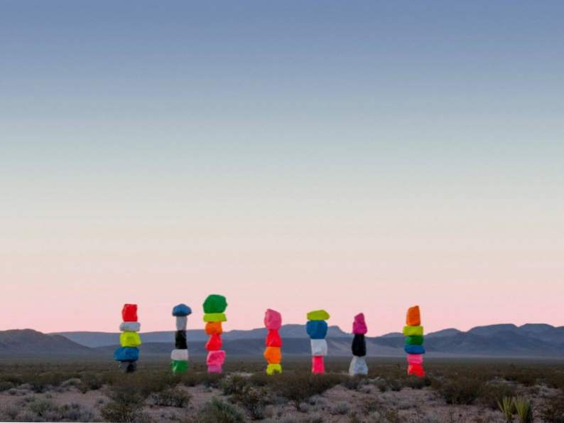 visit the colorful seven magic mountains near las vegas