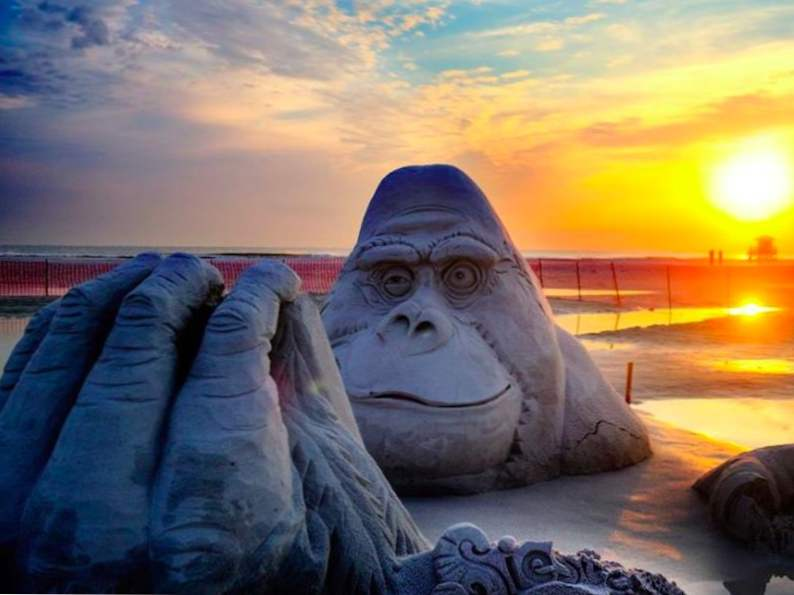 see stunning sand sculptures at this annual event in siesta key