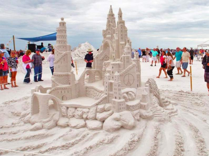 see stunning sand sculptures at this annual event in siesta key 2