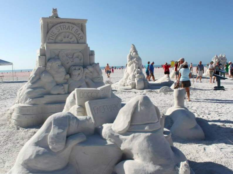 see stunning sand sculptures at this annual event in siesta key 4