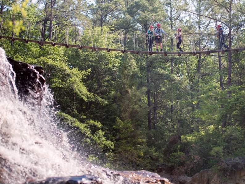 soar over waterfalls at zipquest adventure in fayetteville nc