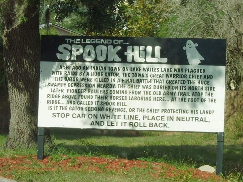 the mystery behind spook hill in lake wales florida