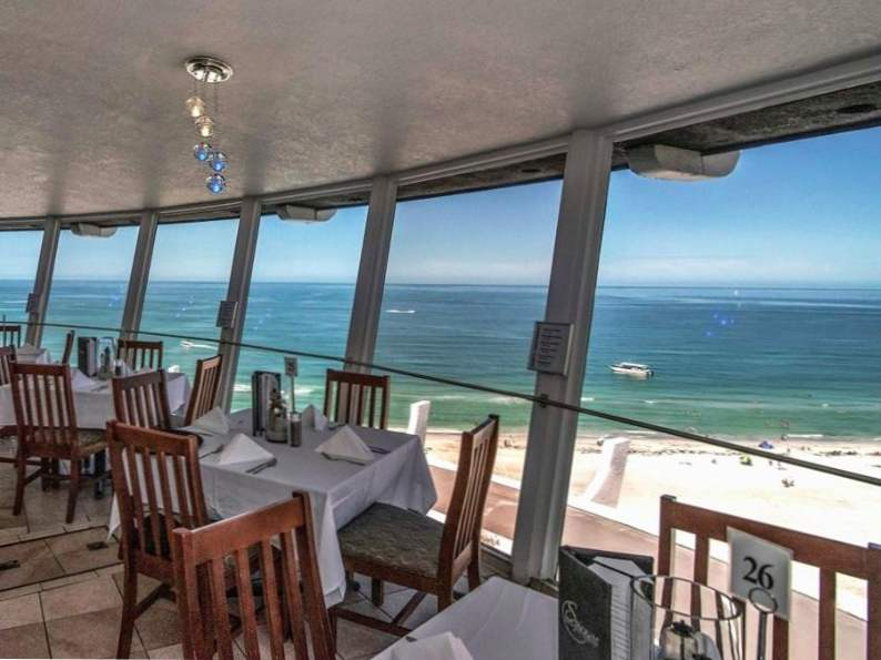 this revolving restaurant in florida serves up picturesque ocean views