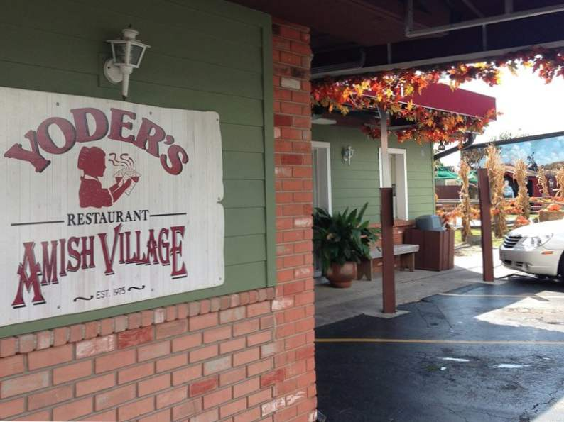 try the world famous pie at yoders amish restaurant in florida