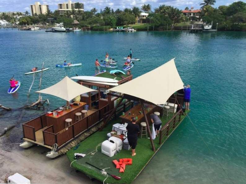you can take a ride on a floating tiki bar in jupiter florida 2