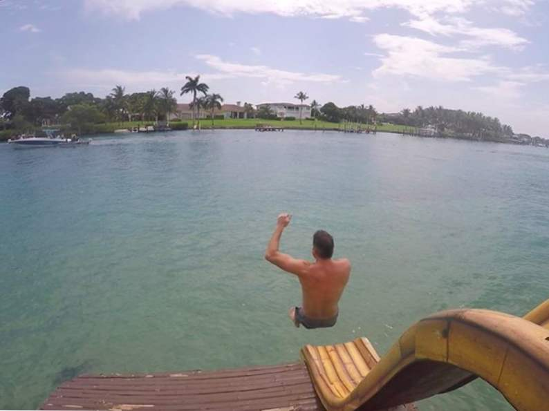 you can take a ride on a floating tiki bar in jupiter florida 3
