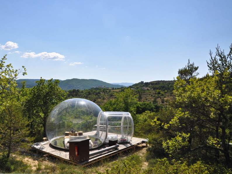 sleep in a bubble in the middle of the french wilderness at attraprves