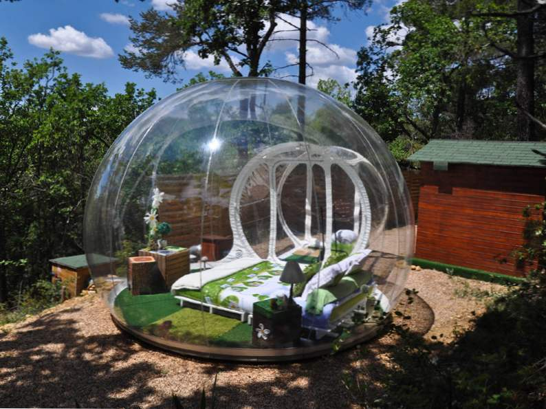 sleep in a bubble in the middle of the french wilderness at attraprves 5